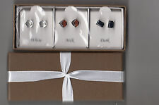 AVON~ BOXED SET OF STUD EARRINGS~3 PAIR  INSPIRED BY CHOCOLATE~NEW IN BOX ~