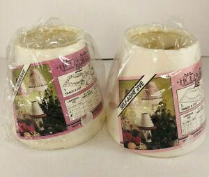 2 Adhesive Mini Paper/Hardback Chandelier Lamp Shade-use your fabric
