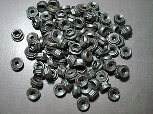 "100 pcs 1/4"" emblem name plate black thread cutting nuts sealer fits LaSalle"