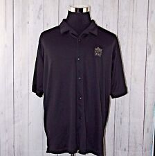 Adidas XL ClimaLite Sacramento Kings NBA Mens Black Short Sleeve Polo Shirt