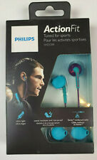 Philips ActionFit SHQ1200 Teal Earbud Headphones Sports Exercise Workout Gym