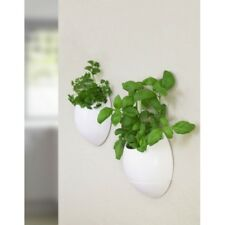 Eco Pod Set of 2 Self Watering Grow Herb Pot Indoor Kitchen Planter Basil Dill