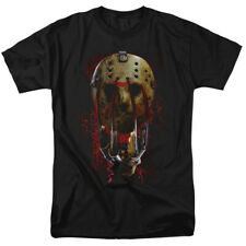 Freddy Vs Jason Mask And Claws Horror Movie Officially Licensed T-Shirt