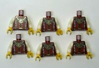 Lego 6 Torso Body For  Minifigure Figure King Castle Kingdoms Lion Head