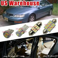 14-pc Bright White Car Interior LED Lights Package Deal Kit For Acura CL 98-99