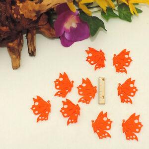 Schmetterlinge aus Filz 4cm 10 Stück Orange Geschenk Frühling Streuteile Kinder