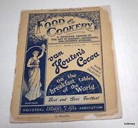 antiques  magazine 1898 food and  cookery      England London  menu restorant
