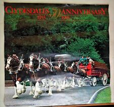 """Vintage Budweiser 1933-1983 Clydesdales 50th Anniversary 17 1/2"""" x 17"""""""