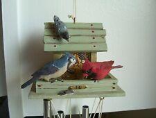 Marjolein Bastin Nature's Sketchbook Birds at Bird Feeder Wind Chimes w/Feather