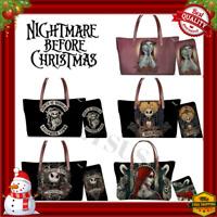 Nightmare Before Christmas Women Purse+Wallet Set Handbag Tote Gift Jack Sally