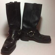 VTG 80's Frye Vintage Harness Motorcycle Black Leather Boots Size 7.5 EVC