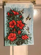 Mini Garden Yard Flag New Hummingbirds And Hibiscus Free Fast Shipping