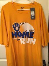 Milwaukee Brewers Home Run MLB Baseball Shirt Men's XXL 2XL NEW with tags