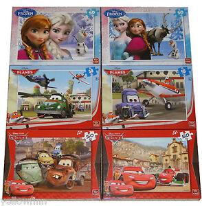 Disney Frozen Cars Planes Childrens Kids 50 Piece Jigsaw Puzzle Various Designs