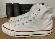 Converse Allstar Chuck Taylor Hi Top White Canvas Trainers 8 UK 41.5 New Boxed