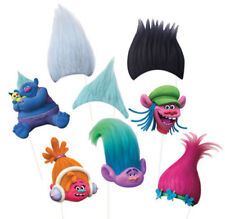 TROLLS Scene Setter HAPPY BIRTHDAY party wall BACKDROP and props Guy Poppy