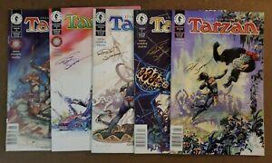Dark Horse Comics TARZAN #1 2 3 4 6    Signed by BRUCE JONES   NM RARE Newsstand
