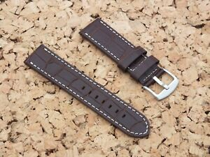 Genuine Leather Quick Release Watch Strap 23mm Brown / Watchgecko,Geckota