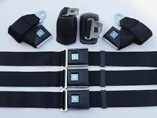 Morris Classic Front & Rear Seat Set 2 Point Retractable Belt OEM 68-72 Chevelle