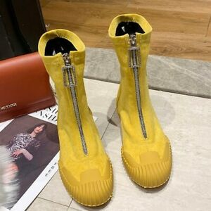 Winter Leisure Trend Lace-up Platform Zipper casual Boots Women's Short Boots