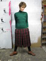 Rollkragenpullover Pulli Nylon dunkelgrün 90er True VINTAGE 90s women's sweater