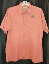 RedHead Hunting Fishing Button Front Shirt Sz M Embroidered Bass Chest Pockets