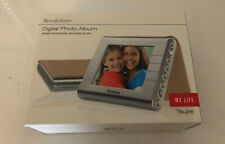 "Brookstone Digital Photo Album My Life 3.5"" Portable Picture Frame Taupe New"