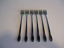 Oneida Community Stainless SPRING ROSE Pattern Set of 6 Cocktail / Seafood Forks