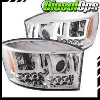 Anzo USA Projector Headlights Chrome w/ U-Bar for Dodge Ram 1500/2500/3500 06-09