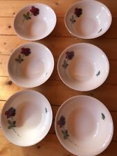 Alfred Meakin 6 x Dessert Bowls Red Rose