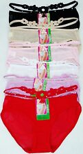 Pack of 6 pcs Lady's Sexy Mesh Bikini Panties Lot New #LB316 Size: M