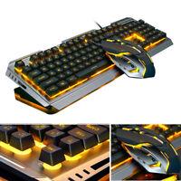 4000DPI USB Wired Ergonomic Backlit Mechanical Feel Gaming Keyboard+Mouse Bundle