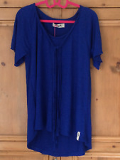 Twisted Muse Size Small 10 12 14 Cobalt Linen Oversized TOP 'Ariana' Front Ties