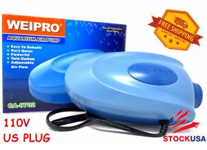 WEIPRO Fresh & Salt water Aquarium Fish Tank Ultra Quiet Air Pump, 110V, US Plug