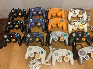 Lot of 15 Official Nintendo Gamecube Controller White Orange & HORI