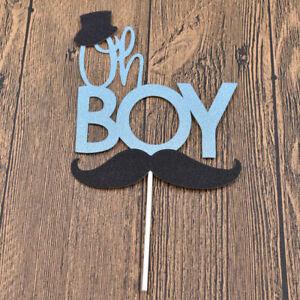 Mustache Little Gentleman Boy Cake Topper Wedding Birthday Party Supply Decor