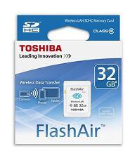 Tarjeta Toshiba FlashAir SD WIFI 32 GB Clase 10 Memoria Inalambrica Wi-Fi SDHC