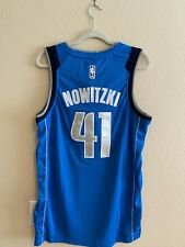 NWT Dirk Nowitzki #41 Dallas Mavericks Blue Jersey Men's Stitched Large (L)