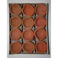 12 pcs.Clay Mud Diya for diwali puja -hindu daily puja + Jyot pack Free