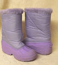 Girls - Snow Winter Purple quilted  SNOW BOOTS/SHOES Youth Size 2