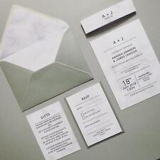 Marble Effect Invitation / Modern / Wedding Invitations. Wedding Stationery