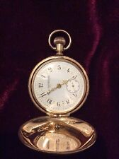 Gold filled Elgin hunter pocket watch engraved 1892