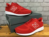 NEW BALANCE MENS UK 10 420 NUMERIC RED WHITE TRAINERS REVLITE RUNNING J