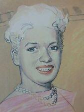 JAN VANRIET (°1948) / JAYNE MANSFIELD / KLEURLITHO / 31x26cm / SIG / 1984