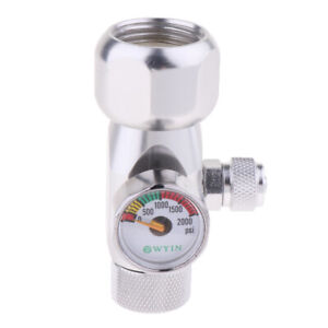 CO2 Regulator Aquarium Single Gauge Display Check Valve Speed Control Valve