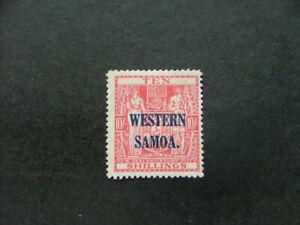 Samoa 1946 10/- carmine-lake SG209 MM