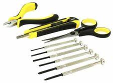 Conjunto de herramientas de 9 piezas de precisión Rolson 36035-destornilladores, tijera Cortadores