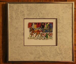 JAMES RIZZI 3D ART LOVE AND MARRIAGE SIGNED NUMBERED FRAMED LIMITED ED 1990