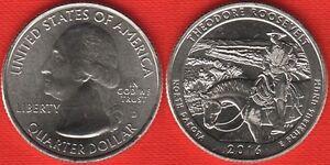 "USA Quarter (1/4 dollar) 2016 D mint ""Theodore Roosevelt"" UNC"
