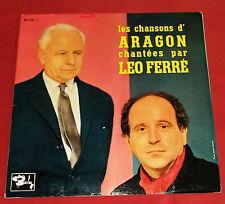 """LEO FERRE  25 CM 10"""" CHANTE LES CHANSONS D'ARAGON  NM!"""